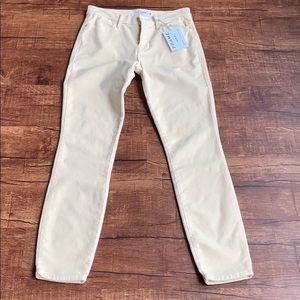 Frame denim Le High Skinny 26 yellow velvet jeans